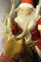 Bethany Lowe Vintage Santa Riding Reindeer image 3
