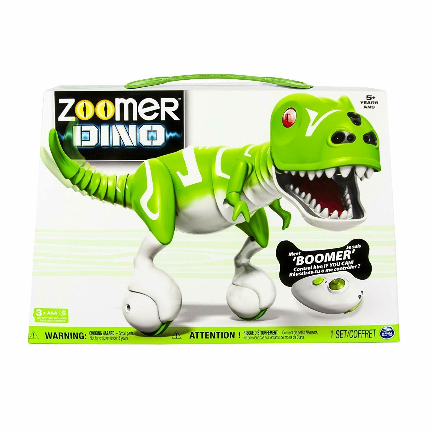 Spin Master ZOOMER DINO BOOMER Green Interactive - Includes Remote & USB Cable