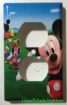 Mickey Mouse House Club Light Switch Duplex Outlet wall Cover Plate Home decor image 7