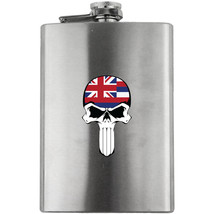 Original Molon Labe Skull Molon Labe Skull Hawaii State Flag Flask 8 oz - $24.99