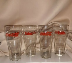 Libbey Coca Cola Red Letter Glasses Lot Of 4 - $1.19