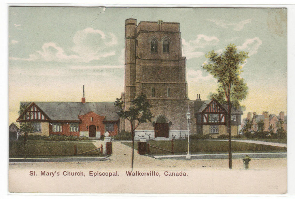 St Marys Church Episcopal Walkerville Windsor Ontario Canada 1910c postcard