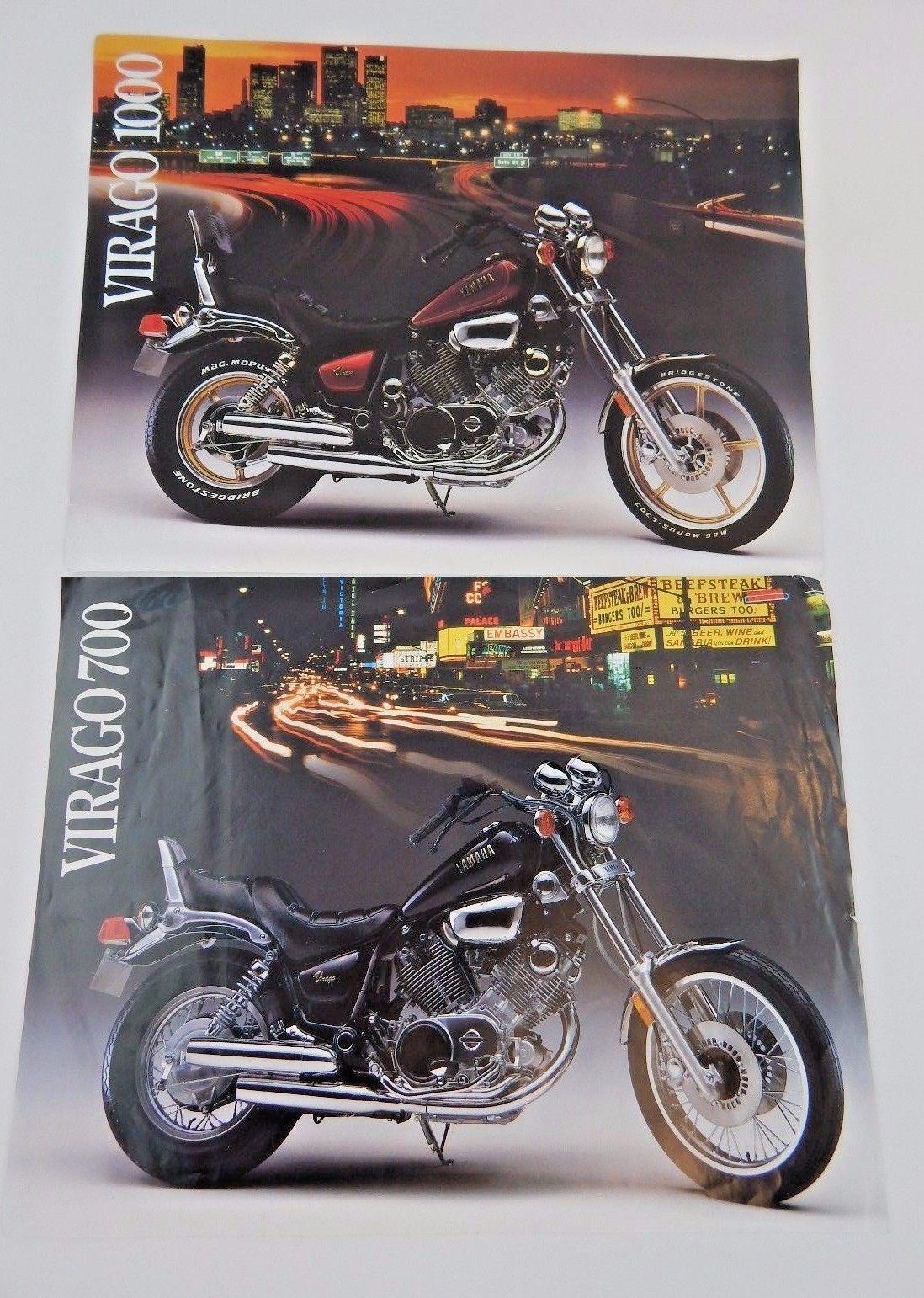 1984 Yamaha Virago 700 & 1000 Single Sheet Sales Brochures