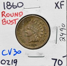 1860 Indian Head Cent Penny Coin Lot# CV30