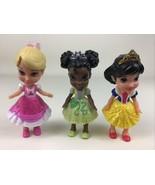 "My First Disney Princess Mini Toddler 3"" Dolls Snow White Tiana Sleeping... - $24.70"