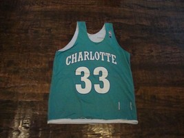 Vintage Alonzo Mourning Charlotte Hornets Champion Reversible Jersey 44 L  - $39.59
