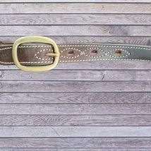 Draft Horse Leather Triple Stitched Halter - Medium Dark leather NEW image 2