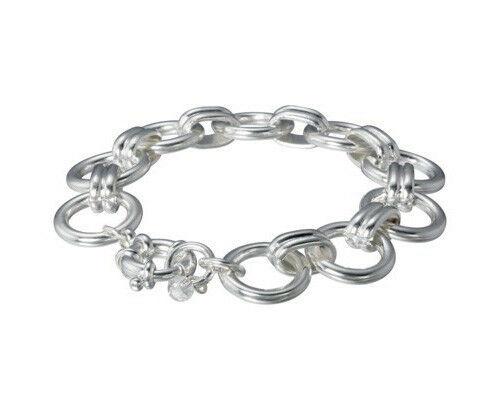 "Lonna & Lilly 7.25 "" Silberfarben Kreis Link Kette Armband Nwt"