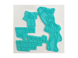 Prima Marketing Mixed Media Doll Stamps, Party Girl Rubber Stamp Set image 2