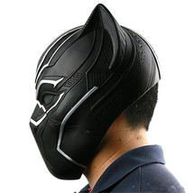 Captain America Civil War Black Panther Latex Mask Halloween Cosplay Helmet - $37.00