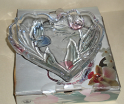 Candy Dish Heart Shaped Mikasa Crystal Tivoli - $20.00