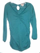 Size L - Self Esteem Bluish Green Long Sleeve Top w/Keyhole back  - $23.74