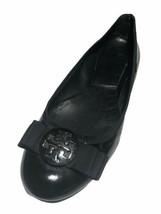 Tory Burch Women's Black Patent Leather Vera Bow Flats - Size Size 11 M/US - $39.59