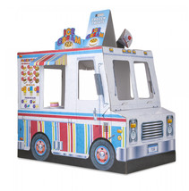 Melissa and Doug Food Truck Indoor Corrugate Playhouse (Over 4 Feet Long) - $76.24
