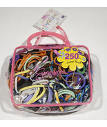 250 NEW EXPRESSIONS COLORFUL PONYTAIL HOLDER HAIR BAND ELASTIC GIRLS WOMEN - $10.93