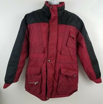 Yukon Trail Down Feather Coat Red Nylon Jacket Size M 32 25 - $31.13