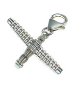 Sterling 925 Silver British Charm by Welded Bliss Angel of the North Cli... - $18.42