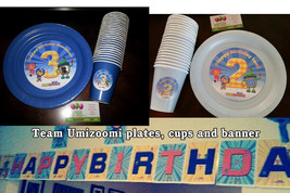Umizoomi plates cups and banner blue thumb200