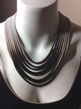 NWT Steve Madden Ombre Snake Chain Necklace Trendy Statement Jewelry New!  - $30.56