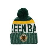 Green Bay Men's Winter Knit Landmark Patch Pom Beanie (Green/Gold) - $13.75