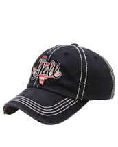 Distressed Embroidered Texas State Y'all Baseball Hat Vintage Style image 5