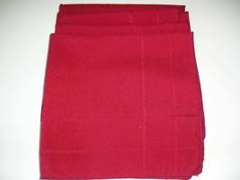 """6 Burgundy Cloth Napkins 17"""" Square  - $12.99"""