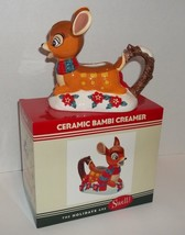 Disney Parks Ceramic Bambi Creamer Swell Christmas Tableware NEW - $30.00