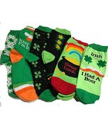 ST PATRICKS DAY SOCK IRISH SHAMROCK BEER ST PADDYS ADULT SZ 9-11 (6 Pack) - $9.79