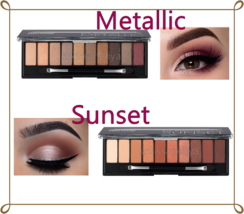 Flormar Eye Shadow Palette SUNSET or METALLIC 10 colors  Jojoba oil Long... - $15.75