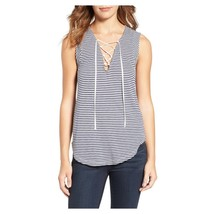 Splendid  Striped Lace-Up Tank, XL - $28.04