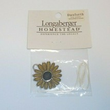 Longaberger Homestead Basket Tie-On Danforth Fine Pewter Flower New   - $19.75