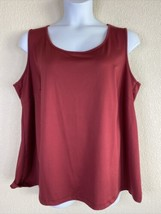 Catherines Womens Plus Size 2X Maroon Scoop Neck Blouse Sleeveless - $19.80