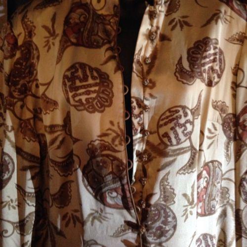 J Peterman Beige Soie Vintage Style Punjab Style Pantalon Combinaison