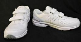 NWOB Mens New Balance 411 sneakers 7.5 D White Leather No Lace Easy ON NEW shoes image 8