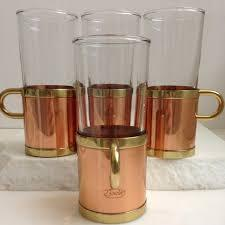Primary image for Set of 6 Vintage Beucler copper and brass irish coffee cups