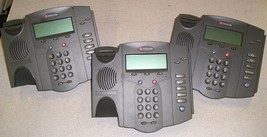 QTY3 Polycom SoundPoint IP301 IP 301 SIP VoIP Phones No Handsets 2201-11... - $30.00