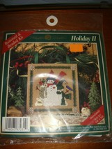 Mill Hill Snowfamily Buttoned & Beaded Holiday II Cross Stitch Kit - $15.99