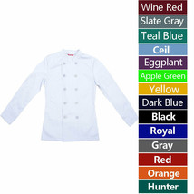 Women's Chef Coat Chef Shirt Cook Coat Barista Baker Uniform Restaurant ... - $26.98