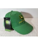 John Deer Hat Baseball Green One Size Cotton Adjustable Back NWT - $10.39