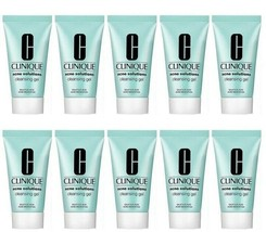 10 x Clinique Acne Solutions Cleansing Gel - 10 oz/200 ml TOTAL - u/b - $42.50