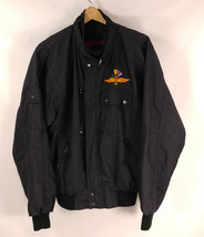 Vtg. Indianapolis Motor Speedway Embroidered Sewn Cafe Moto Black Jacket... - $47.40