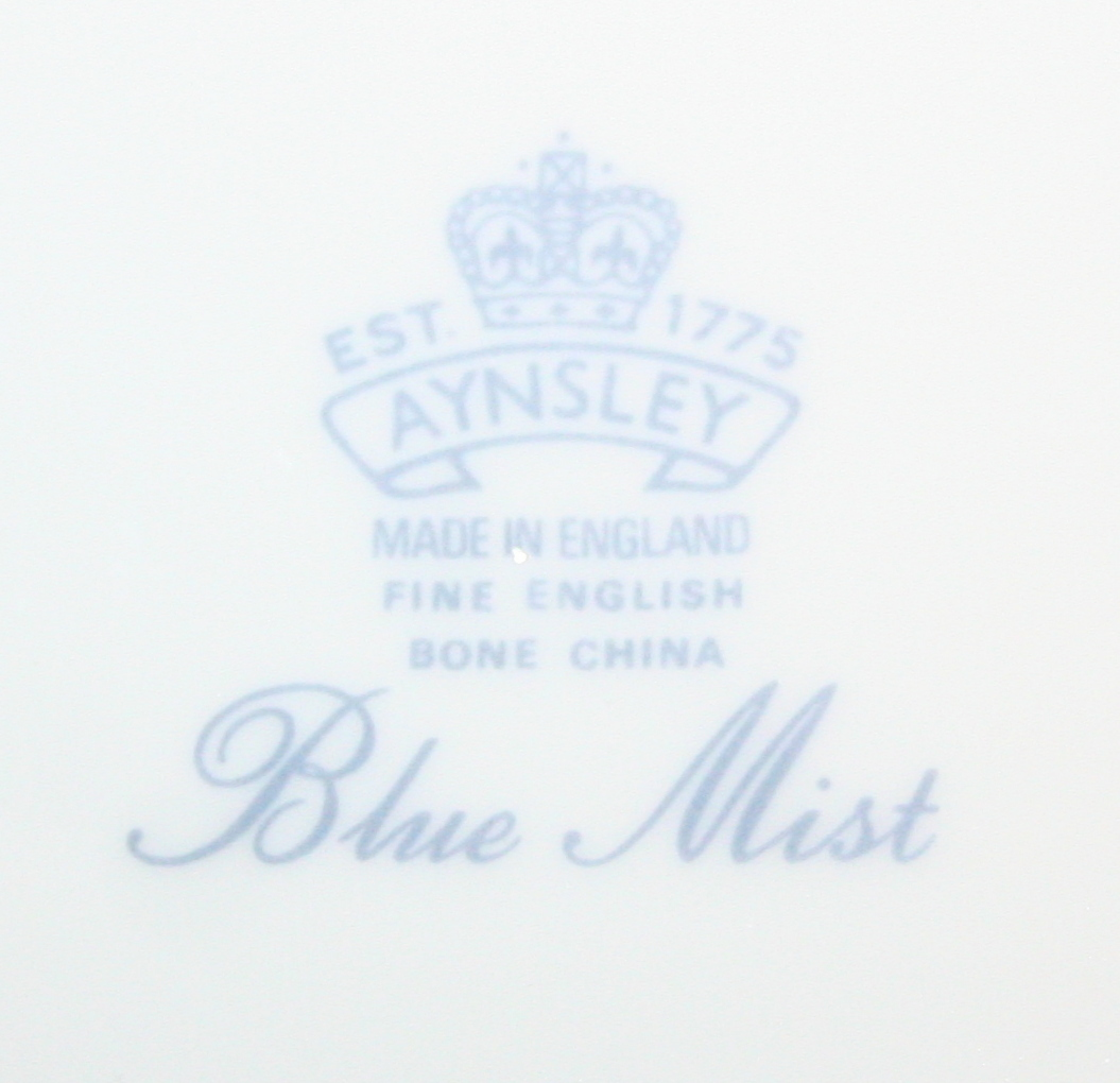 "Blue Mist 8.25"" Salad Plate Platinum Trim Bone China Made in England by Aynsley image 3"