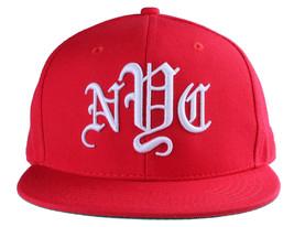 40oz Forty Ounce NYC Big Apple New York Old English Red Snapback Baseball Hat image 1