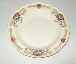 "Wedgwood Trellis Flower Rimmed Soup Bowl s 8 3/8"" - $24.74"