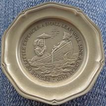 Little Expenses... - Franklin MInt Miniature Collectible Plate - VGC BRONZE - $8.90