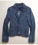MARC JACOBS Denim Blazer Jacket SIZE 4 ~100% AUTHENTIC ~Orig $895 ~Neima... - $186.99