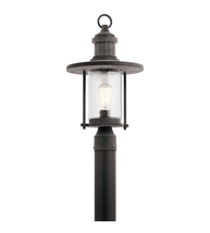 Kichler 49195WZC Rierwood Outdoor Post Light 11in Weathered Zinc Aluminum - $298.00