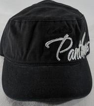LZ NFL Team Apparel Girl's One Size Carolina Panthers Baseball Hat Cap NEW i22 image 2