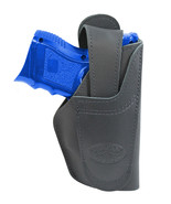 New Barsony Black Leather 360Carry 12 Option OWB IWB Holster Compact 9mm... - $64.99