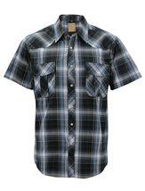 Men's Western Short Sleeve Button Down Casual Plaid Pearl Snap Cowboy Shirt image 15